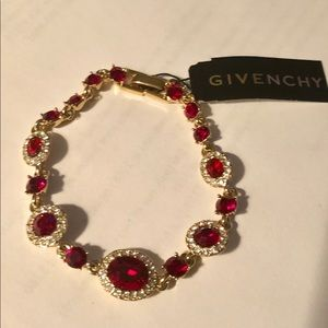 Givenchy Red and white crystal bracelet